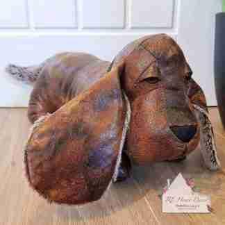Antique Dachshund Dog Doorstop