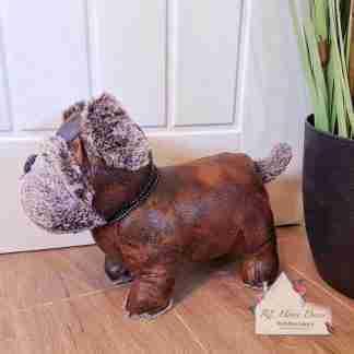 Antique Pug Dog Doorstop