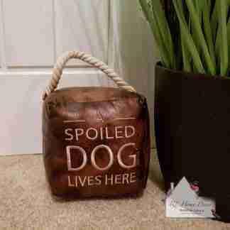 Antique Spoiled Dog Doorstop