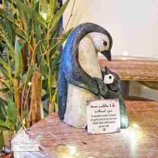 Mum And Baby Penguin Ornament