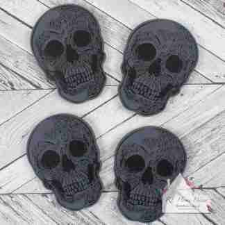Set Of Four Skull Coasters