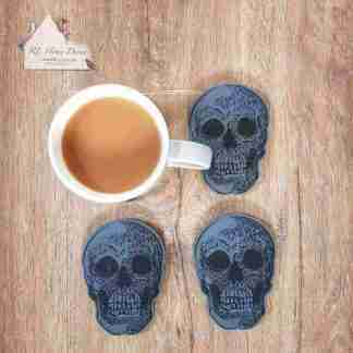 Set Of Four Skull Coasters