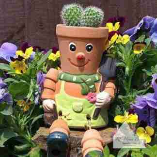 Terracotta Plant Pot Man
