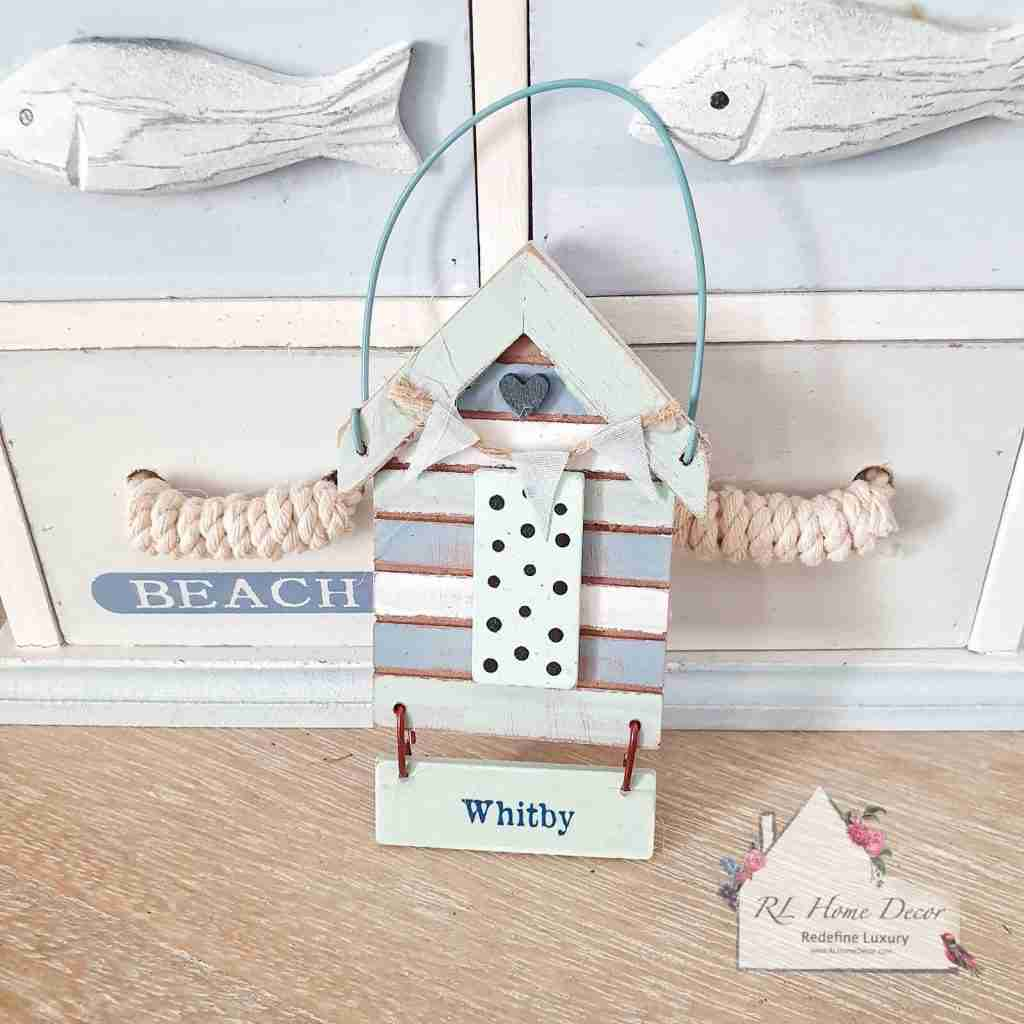 Whitby Beach Hut Hanging Sign