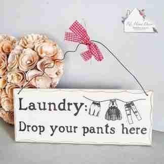 Laundry Drop Pants Plaque