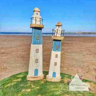 Assortment Rustic Wooden Lighthouse