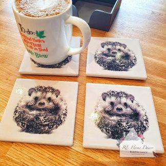 Set Of Four Hedgehog Coasters