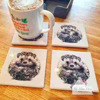 Set Of Four Hedgehog Coasters