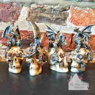 Assortment Steampunk Dragons And Skulls