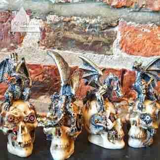 Assortment Steampunk Dragons And Skulls