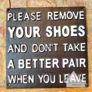 Cast Iron Better Shoes Sign
