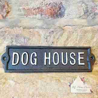 Cast Iron Dog House Sign