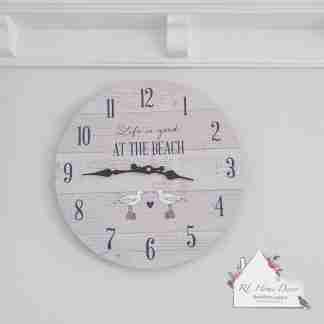 Seagull At The Beach Clock
