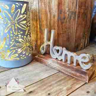Silver Home Sign
