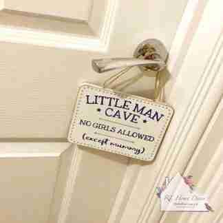 Little Man Cave Plaque