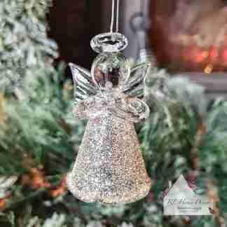 Small Glass Christmas Angel Decoration