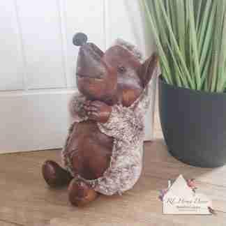 Antique Fluffy Hedgehog Doorstop