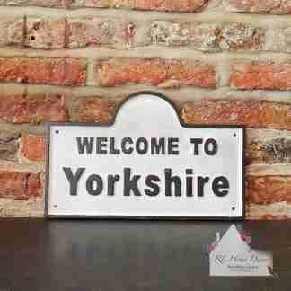 Cast Iron Yorkshire Sign