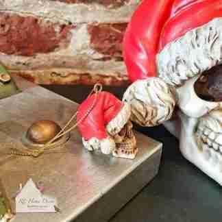 Hanging Christmas Skull