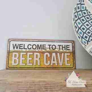 Metal Beer Cave Sign
