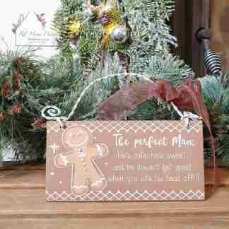 Christmas Gingerbread Man Plaque