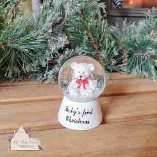 First Christmas Snow Globe Bear