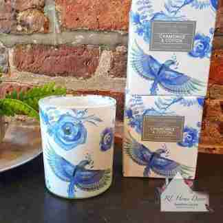 Birds & Roses Large Candle