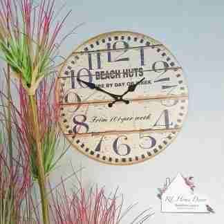 Beach Huts Clock