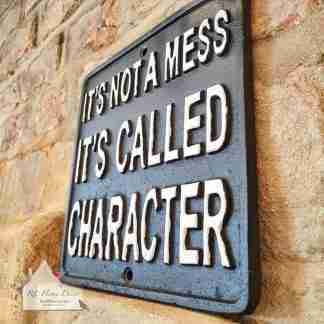 Cast Iron Character Sign