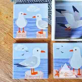 Set Of Four Seagull Coasters