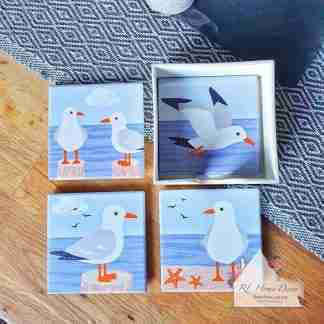 Set Of Four Seagull Coasters