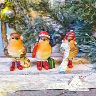 Fun Standing Christmas Robins