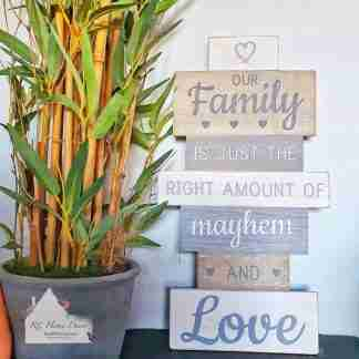 Our Family Slatted Sign