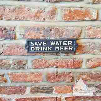 Cast Iron Drink Beer Sign