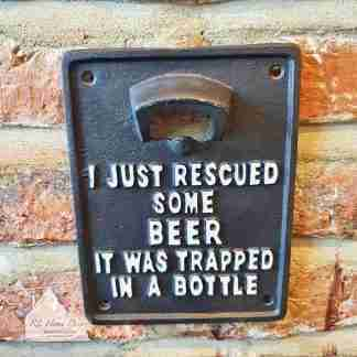 Cast Iron Rescued Beer Bottle Opener