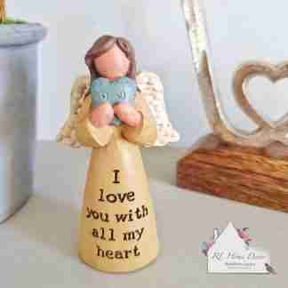 I Love You Angel Ornament