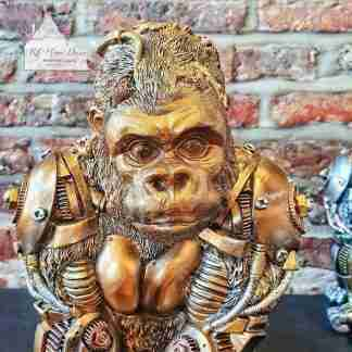 Steampunk Gold Gorilla