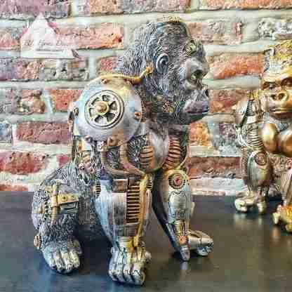 Steampunk Silver Gorilla