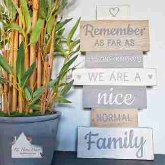 Normal Family Slatted Sign
