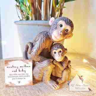 Mother And Baby Monkey Ornament