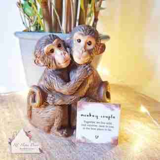 Monkey Couple Ornament