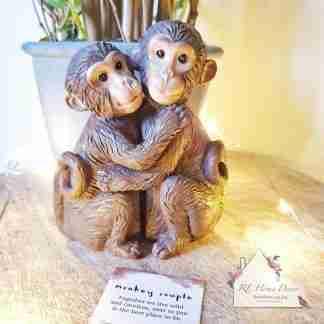 Monkey Couple Ornament