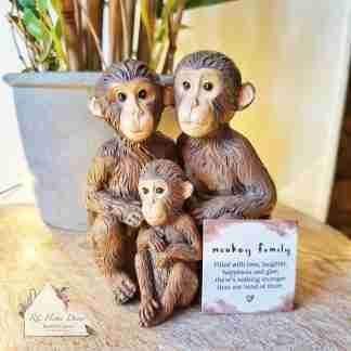 Monkey Family Ornament