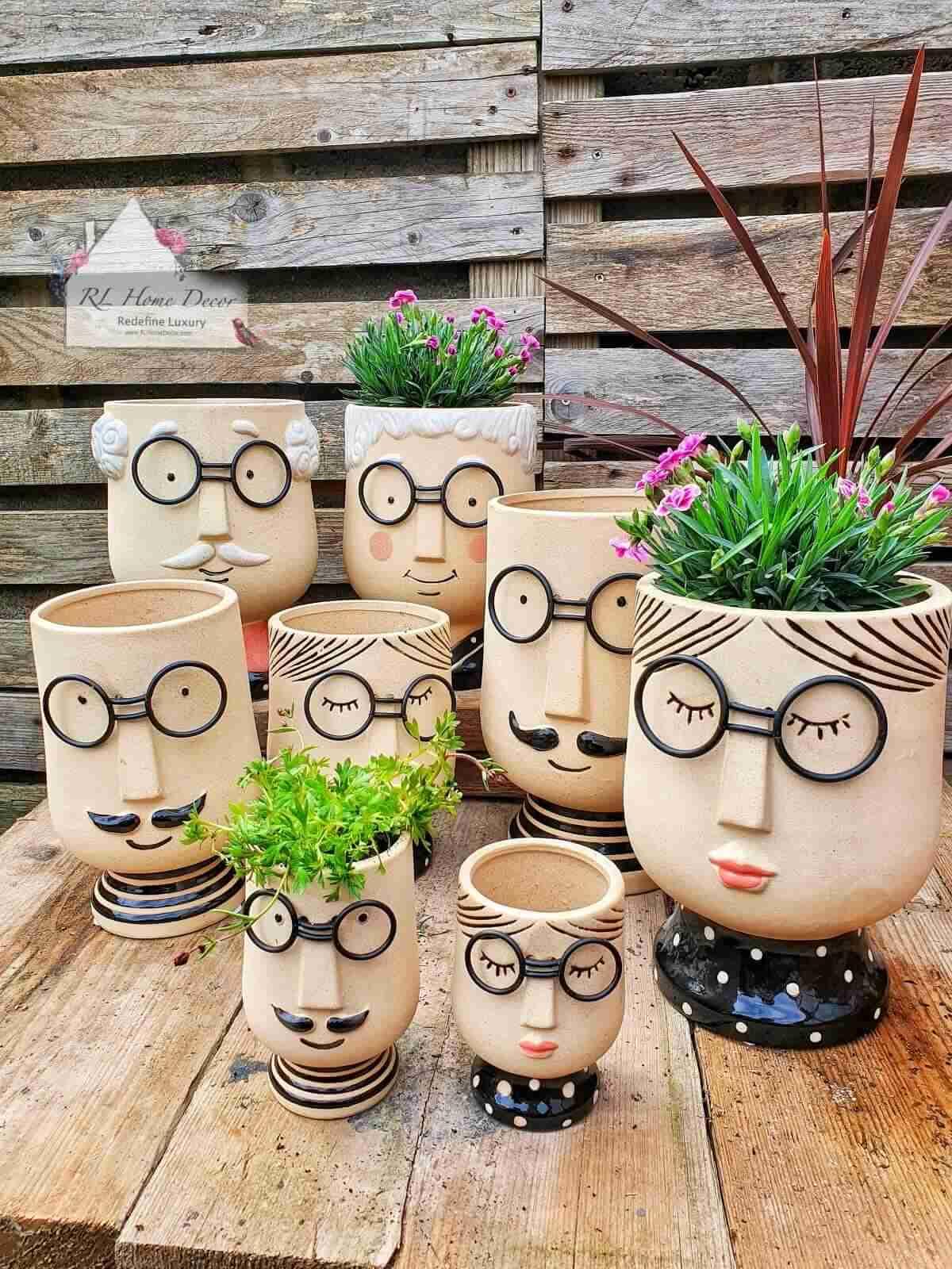 Head Plant Pots