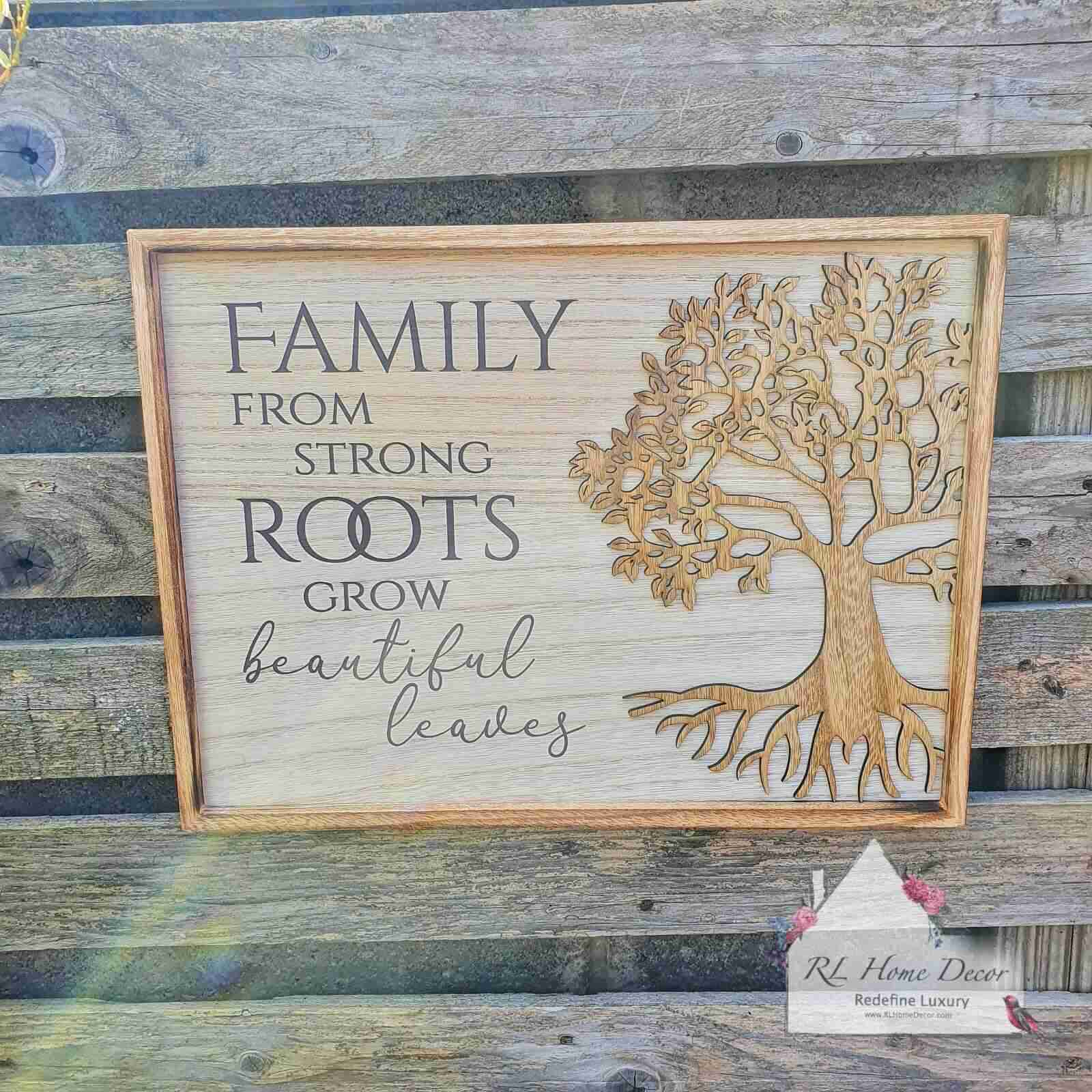 Family Roots Plaque
