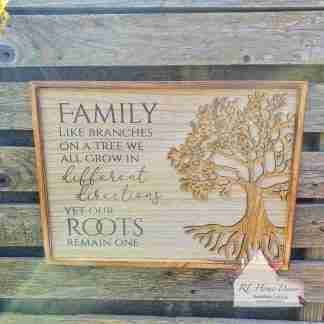 Family Like Branches Plaque