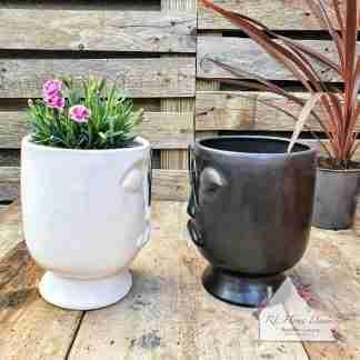 Monochrome Man Plant Pot Assortment