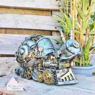 Steampunk Silver Snail