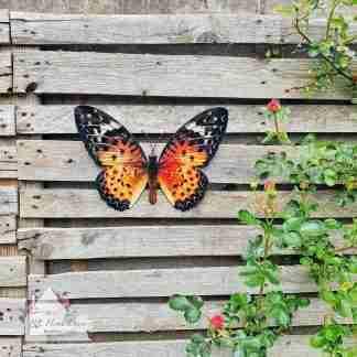 Garden Metal Orange Butterfly