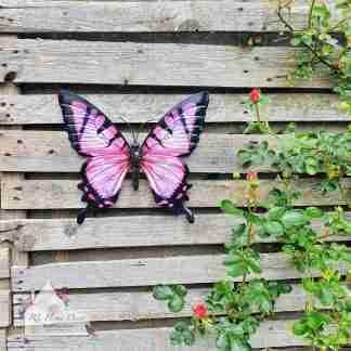 Garden Metal Pink Butterfly